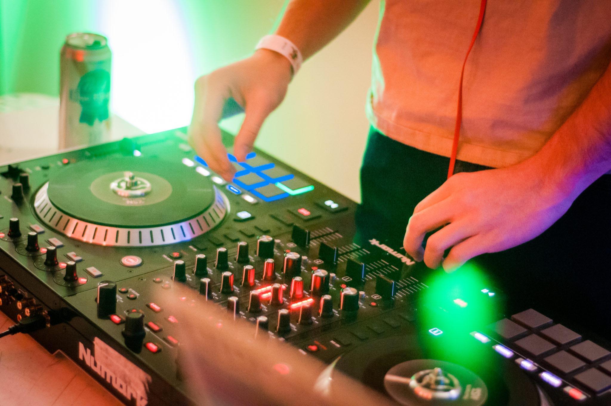 Willy Green DJs at the Colorado Mesa University Art Gallery