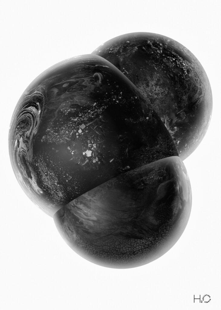 Pollution Planet-Water Molecule